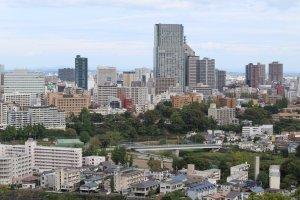 Сендай - очень зелёный город