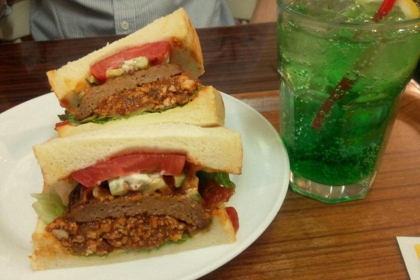 오리지널, 햄버그를 토핑한 샌드위치입니다!