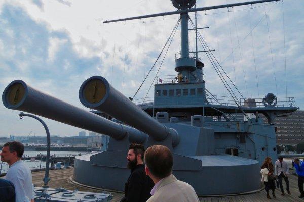 On board Battleship Mikasa