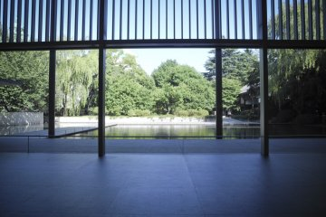 From the Inside of the Horyuji Gallery