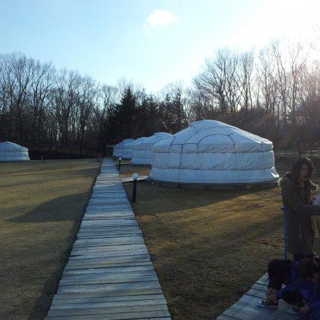 Staying in a yurt at Nasu Kogen