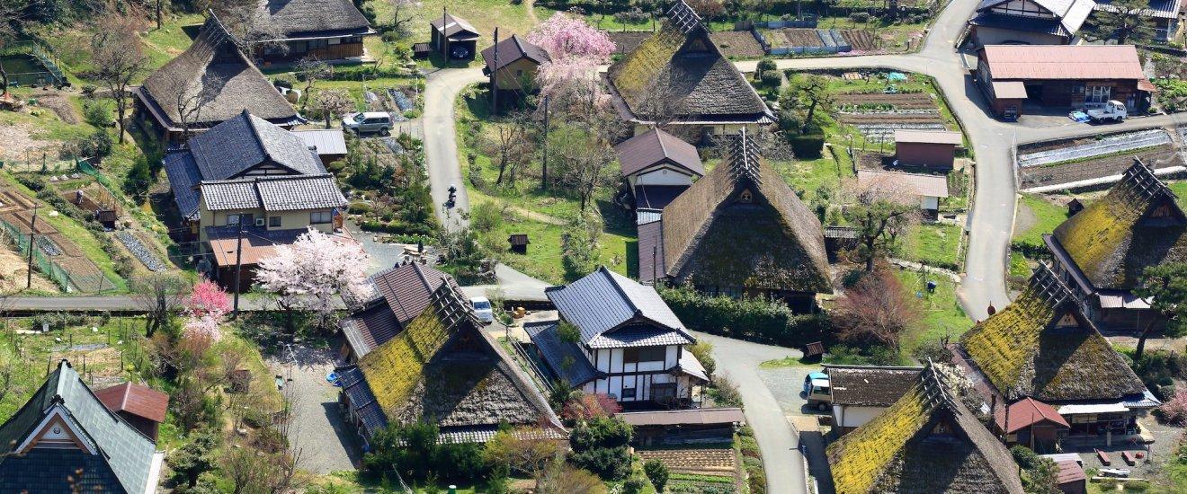 Village de Kayabuki au printemps