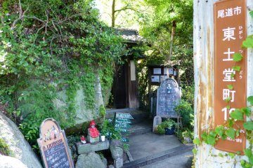 Little coffee shops and small bars decorate the path down the mountain