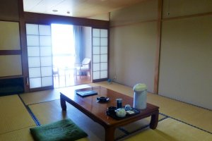 Spacious Japanese style rooms