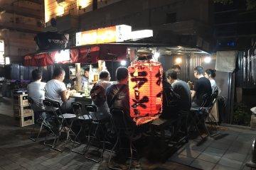 The famous Fukuoka yatai stalls are also a short stroll away