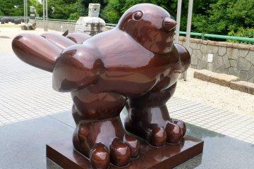 Statues Around Hiroshima's MOCA