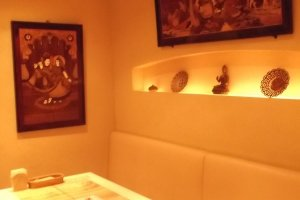 Indian art in the restaurant