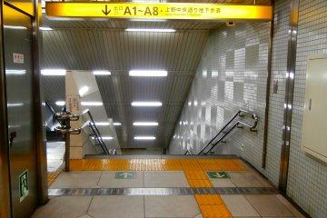 The way to the underground passageway