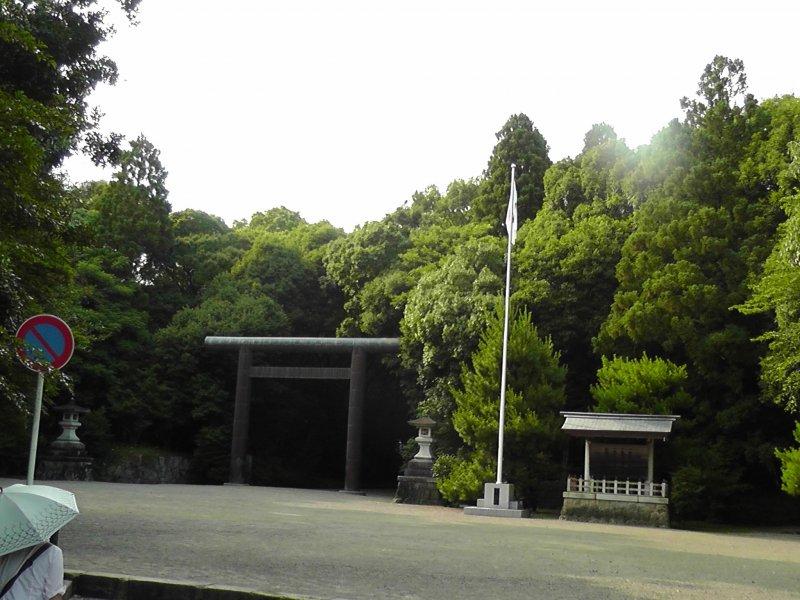 Main entrance of the Miyazaki Shrine