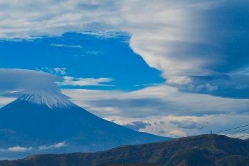 View of Mt Fuji from Sulfur Field Hakone