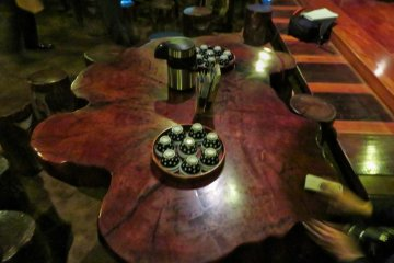 Wooden table at Tea House