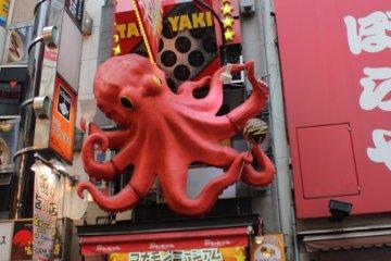 大阪名物-道顿堀KUKURU章鱼烧