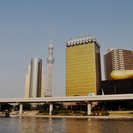 Cầu cảng sông Sumida ở Asakusa