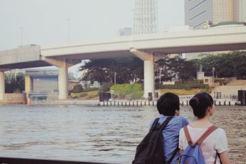 The promenade is always full of people observing the skyline and taking pictures of it.