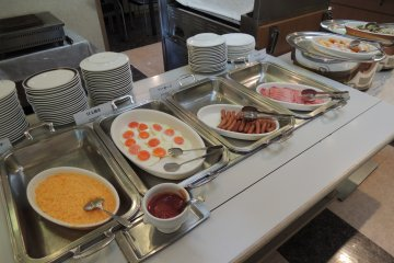 Western food is also available for breakfast