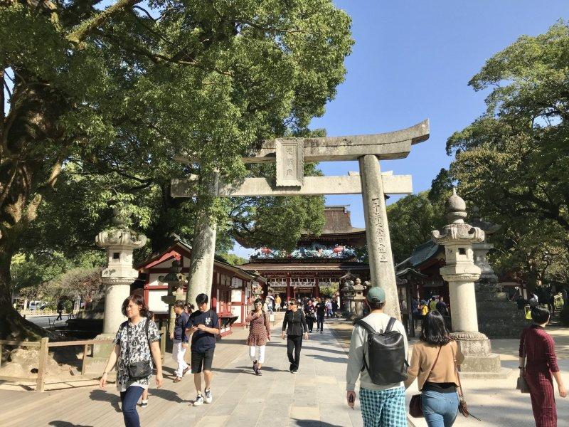 The shrine is a very popular tourist spot