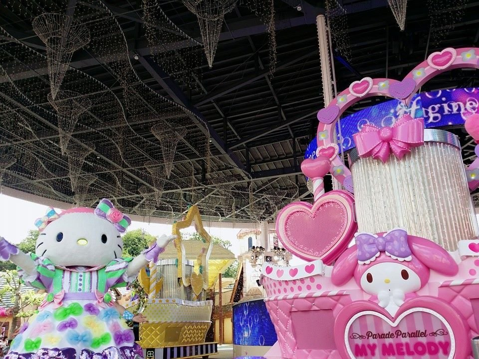 Hello Kitty, My Melody, and other Sanrio characters abound here at Harmonyland