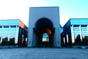 The museum is a very big building that also has special exhibitions each term