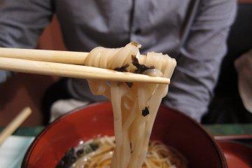 Great noodles at Mugendo Omachi Honten Akita City.