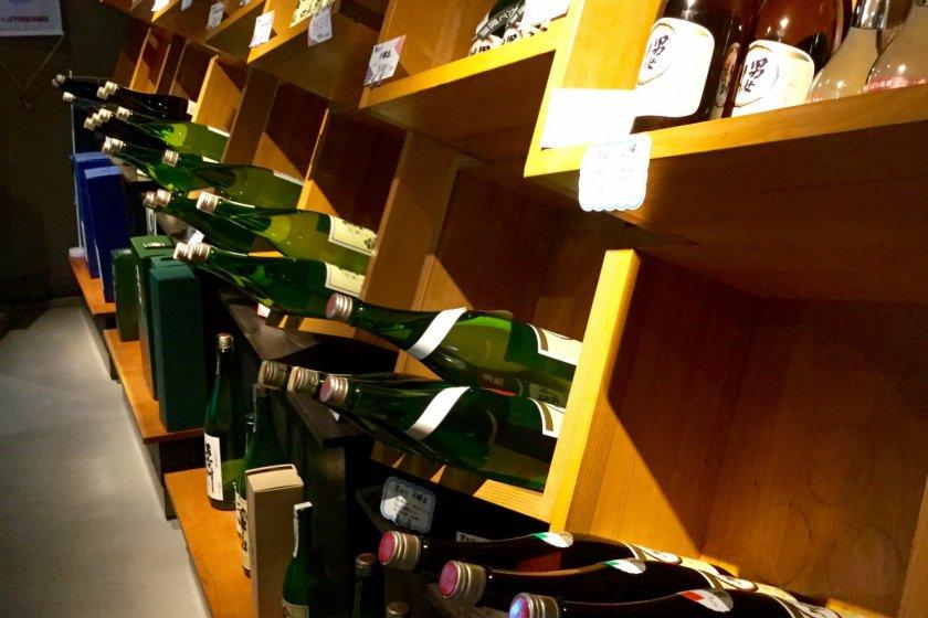 Enticing sake display