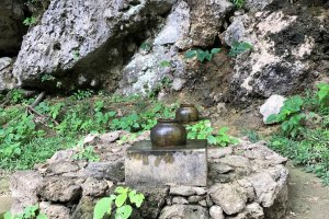 Urns to capture the pure water from the caves for special ceremonies
