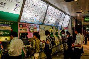 Ample ticket machines