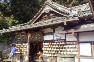 The last 20 minutes includes a small temple where good luck amulets are offered. They are called Hanzo-bo (半僧坊).