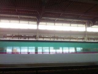 This is the new speedy shinkansen.