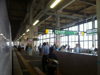 Fairly busy station, but not overcrowded.