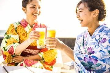 Enjoy the summer sunshine and the ocean breeze at Hakodate