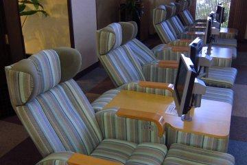Massage Chairs for use at Hotel Grantia Akita Spa Resort