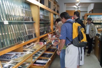 Customer browsing the shop