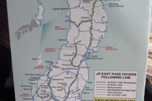Map of the east of japan for you to explore with your pass