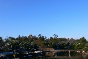 View of Matsue Castle from the moat