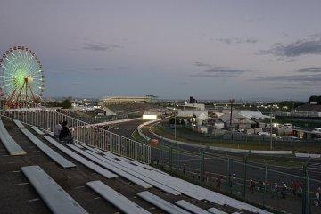 The sun sets over Suzuka Circuit
