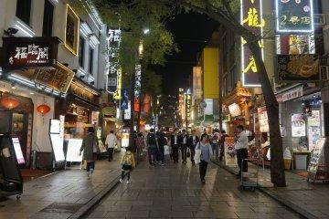 Yokohama Chinatown pada Malam Hari