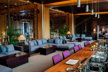The Le Chateau Noir is a popular upmarket bar with a fancy mix of couches and stools to enjoy your night on.