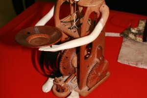 Stripped bare, a 17th Century wooden robot bares it's soul.