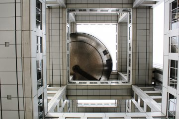 <p>The maze like construction of Fuji TV from the bottom up</p>