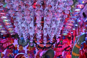 """Guady"" would be the optimal word to describe the opulant décor inside Robot Restaurant."
