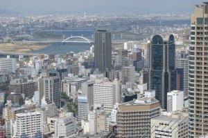 Вид на город Осака