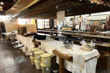 The Tomita Some Kogei workshop floor