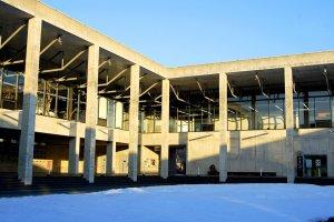 The inner courtyard of Echigo-Tsumari Satoyama Museum of Contemporary Art, KINARE