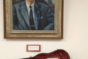 Portrait and violin