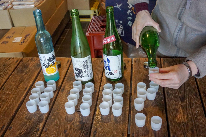Sake tasting at Sake Brewery