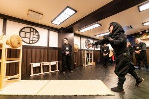 Shuriken throwing practice