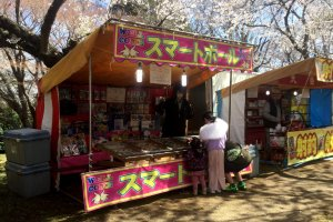 Yatai, seasonal vendors under the cherry trees