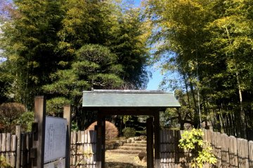 The gate to NihonTeien, the traditional tea garden