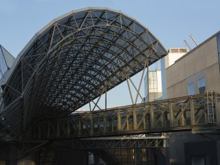 On the descent back into the station be sure to appreciate the steel structure from a closer perspective.