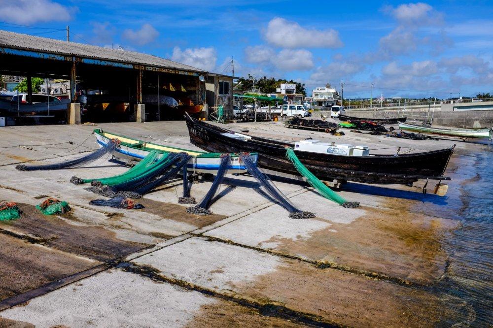 O porto de pesca de Ou-jima